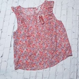 4/$20 Arizona Floral Ruffle Blouse